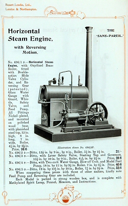 Bassett Lowke steam engine.