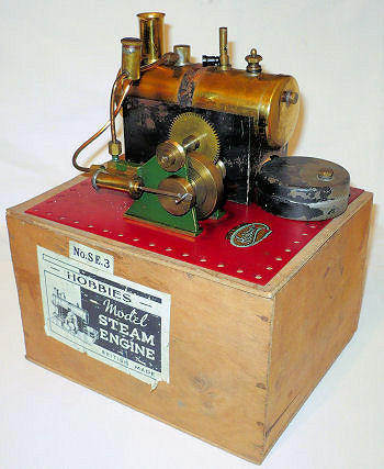 Hobbies SE3 Steam engine with original box Circa 1937.