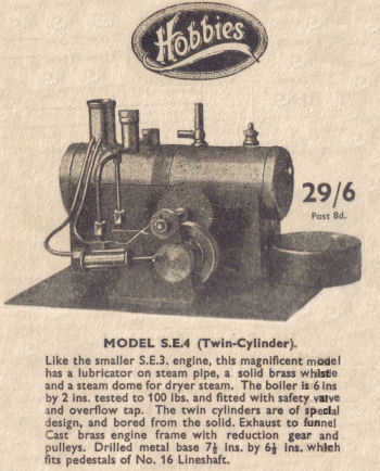 Hobbies SE4 Steam engine Circa 1939.