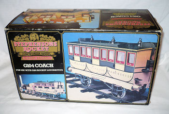 Hornby Stephensons Rocket Coach Packaging.