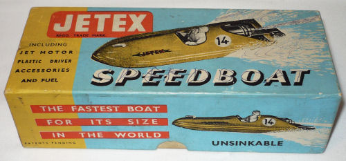 Jetex speed boat box.