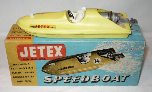 Jetex speedboat.
