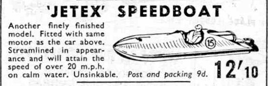 Jetex advert from the 1950's.