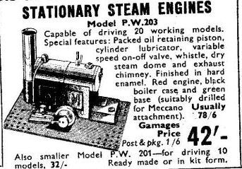 Luton Bowman PW203 steam engine advertisement.
