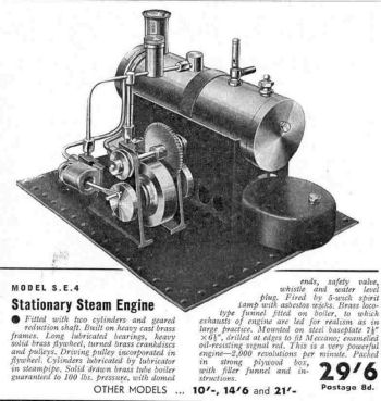 Mamod SE4 Steam engine October 1938.
