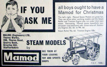 Mamod TE1 advert Circa 1964.