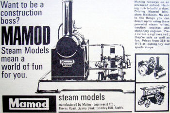 Mamod SE3 Steam engine Advert Circa 1966.