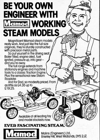 Mamod advertisment January 1977.