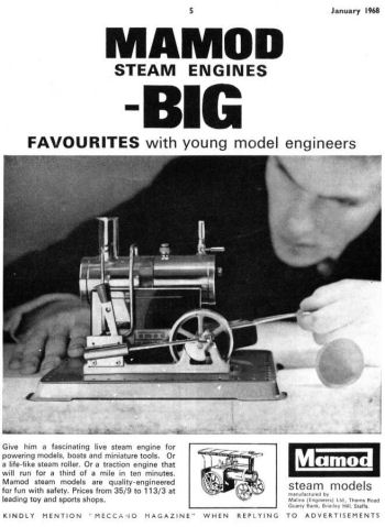 Mamod SE2 Steam Engine Advertisment Circa 1968.