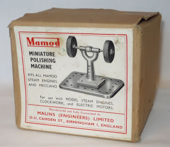 Mamod polishing machine box Circa 1950's.
