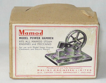 Mamod power hammer box Circa 1950's.