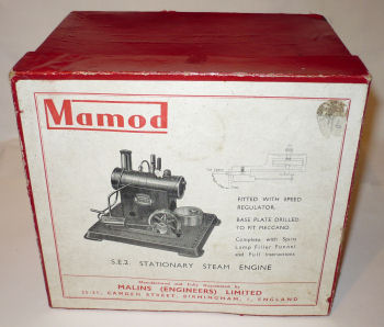 Mamod SE2 Steam Engine box Circa 1954.