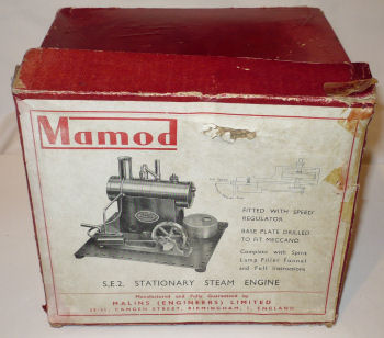 Mamod SE2 Steam Engine box Circa 1953.