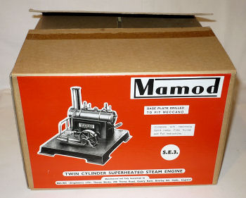 Mamod SE3 Steam Engine box Circa 1960.