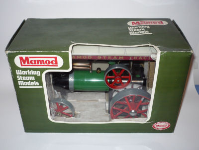 Mamod traction engine green box version.