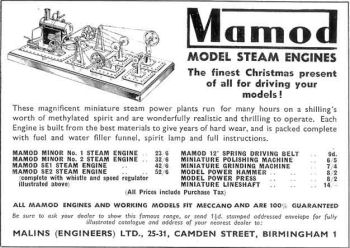 Mamod workshop Advert 1951.