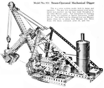 Meccano steam engine Circa 1929.