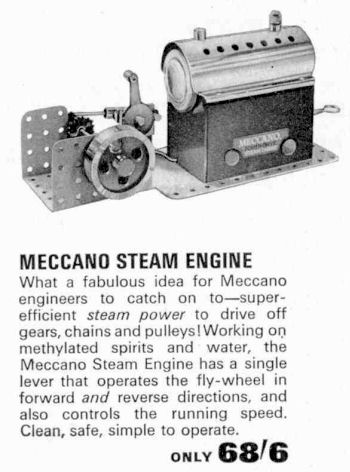 Meccano Mec 1 steam engine 1966.