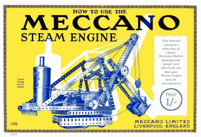 Meccano steam engine book.