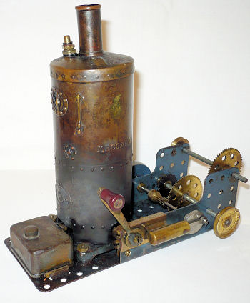 Meccano 1929 steam engine.