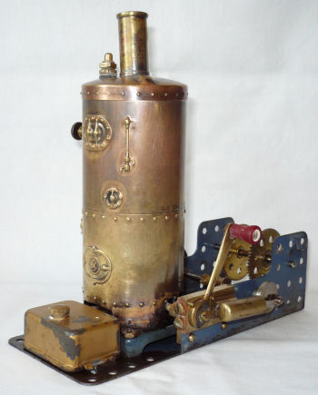 Early Meccano steam engine.