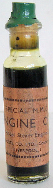 Mersey Model Co Ltd steam oil.