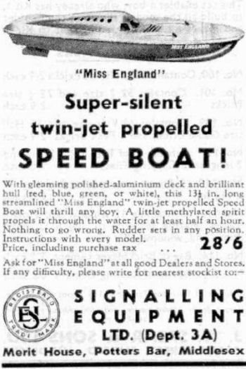 Miss England SEL Advert 1948.