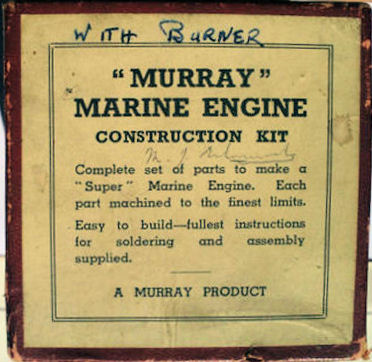 Box for Murray marine engine.
