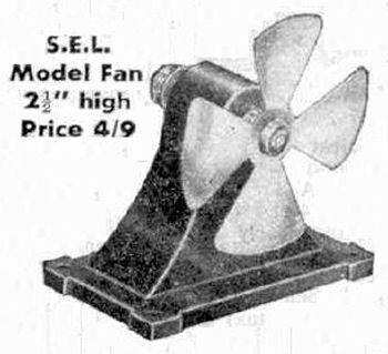 SEL Fan Advert Circa 1949.