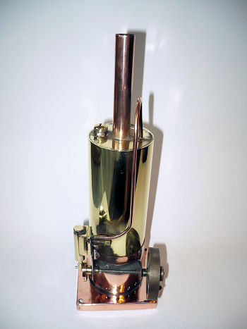 Scratch built vertical steam engine.