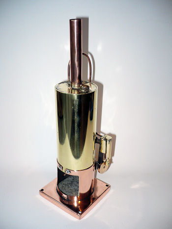 Home made vertical steam engine.