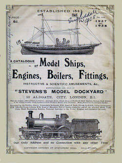 Steven's Model Dockyard Catalogue.
