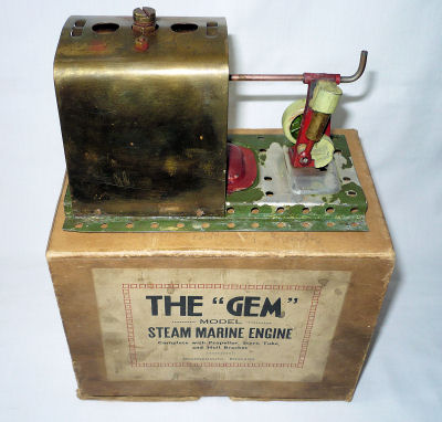 The Gem Steam Marine Engine Boxed.