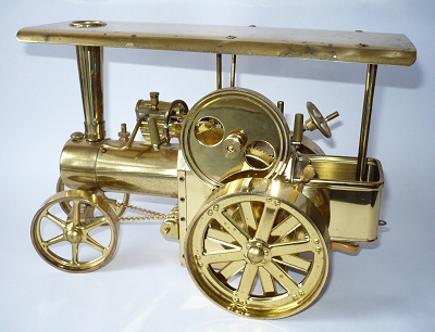 Wilesco Brass Traction Engine.