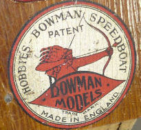 Hobbies Bowman steam boat decal.
